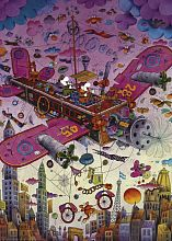 Puzzle Heye 1000 pieces: Flying on an airplane