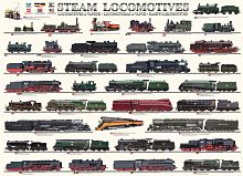 Puzzle Eurographics 1000 pieces: Locomotives
