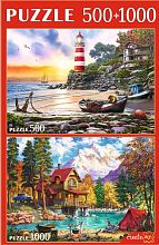 Puzzle Red Cat 500#1000 details: Soothing landscapes