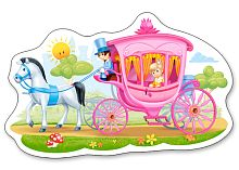 Puzzle Castorland 15 details: the Princess in the carriage