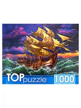 TOP Puzzle 1000 pieces: Sailboat in a raging sea