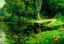 Stella puzzle 1500 pieces: Overgrown pond