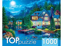 TOP Puzzle 1000 pieces: The House and the Moon Lake