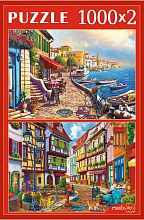 Puzzle Red Cat 2x1000 parts: Sunny cities