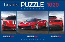 Puzzle Hatber 2х260 and 500 items: Super car