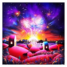 Pintoo 1600 piece puzzle: D. Mundy. Night fireworks display