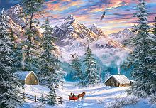 Puzzle Castorland 1000 pieces: Christmas in the mountains