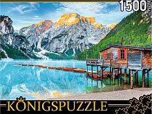 Konigspuzzle puzzle 1500 pieces: Italy. Lake Bries in the Alps
