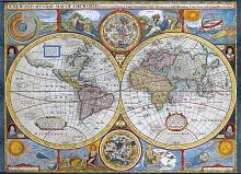 Puzzle Eurographics 1000 pieces Antique map of the world