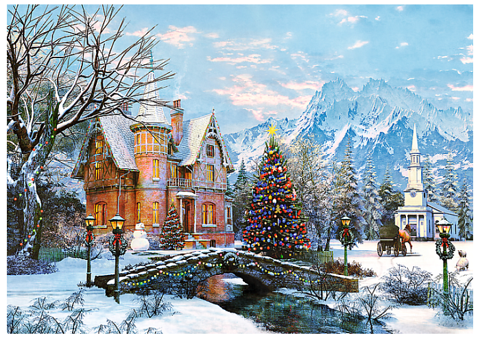 Puzzle Trefl 1000 pieces: Winter landscape 10439