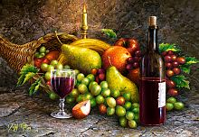 Puzzle Castorland 1000 pieces: Fruit and wine