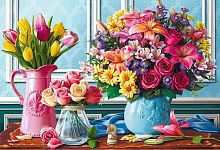 Trefl puzzle 1500 pieces: Flowers in vases