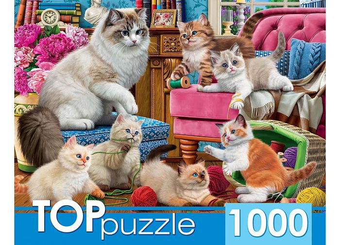 TOP Puzzle 1000 Pieces: Naughty Kittens ХТП1000-2158