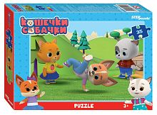 Step puzzle 35 pieces: Cats and dogs