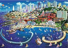 Trefl puzzle 2000 details: the Bay of San Francisco