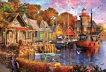 Educa jigsaw puzzle 5000 pieces: Evening in the Harbor