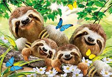 Puzzle Educa 500 items: Family selfie sloths