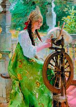 Stella puzzle 1000 pieces: at the spinning wheel