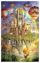 Pintoo puzzle 4000 pieces: Marchetti Flying castle