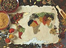 Anatolian jigsaw puzzle 1000 pieces: world Map of spices