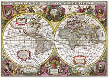 Trefl puzzle 2000 details: a Map of the New Lands And Seas, 1630