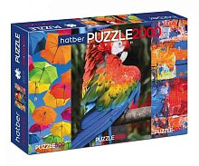 Puzzle Hatber 2х500 and 1000 items: Bright colors