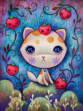 Puzzle Heye 1000 pieces: strawberry kitty