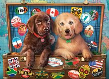 Puzzle Castorland 300 details: the Puppies-the travelers