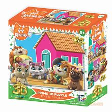 Puzzle Prime 3D 100 pieces: 44 kittens. Plot 3