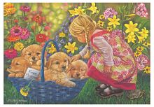 Anatolian jigsaw puzzle 260 items: the girl and the puppies