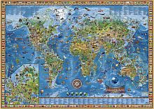 Puzzle Heye 2000 details: Geographical map of the Earth