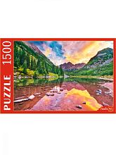 Red Cat Puzzle 1500 pieces: Lake in the Maroon Bells Mountains