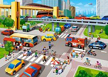 Jigsaw puzzle Castorland 60 pieces: an Urban movement