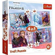 Puzzle Trefl 35#48#54#70 details: a journey into the unknown, Фрозен2