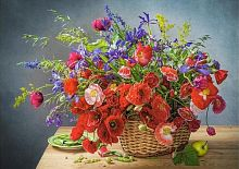 Puzzle Castorland 500 items: Bouquet of poppies