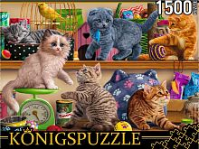 Konigspuzzle puzzle 1500 pieces: Kittens in a pet store
