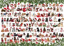Puzzle Eurographics 1000 pieces: Festive dogs