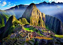 Trefl puzzle 500 details: the Historic sanctuary of Machu Picchu