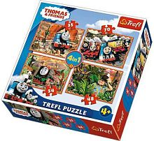 Puzzle Trefl 35х48х54х70 details: travel around the world, Thomas and friends