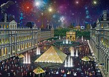 Puzzle Schmidt 1000 items: A. Chen the fireworks over the Louvre