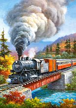 Puzzle Castorland 500 items: railroad