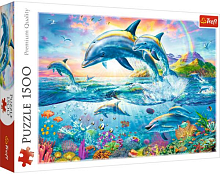Trefl puzzle 1500 pieces: the Family of dolphins