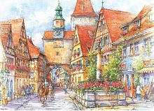 Puzzle 1000 wood Stella Rothenburg, Darkstorm