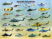 Puzzle Eurographics 1000 pieces: Military helicopters