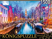 Konigspuzzle puzzle 1500 pieces: Amsterdam. View of the Zuiderkerk