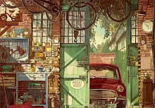 Jigsaw puzzle Educa 1500 parts: the Old garage, Arlie Jones