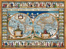 Puzzle Castorland 2000 details: a map of the world 1639