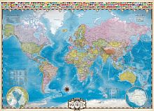 Puzzle Eurographics 1000 pieces world Map