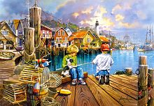 Puzzle Castorland 1000 pieces: Fishing on the pier