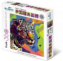 Puzzle Origami 360 parts: Art therapy. Pop art. Jaguar